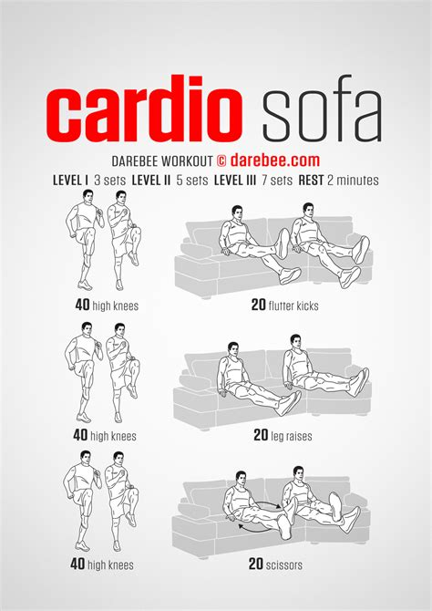 couch workout cardio sofa workout