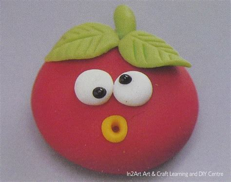 crafts with clay in2art ebook clay craft tomato brooch