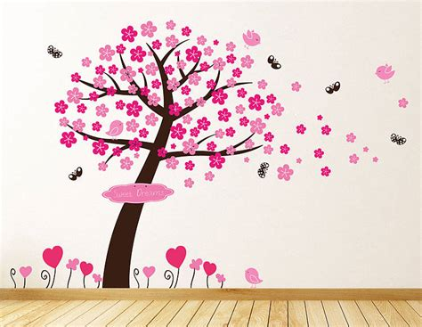 blossom tree wall sticker princess blossom tree wall stickers by parkins interiors notonthehighstreet