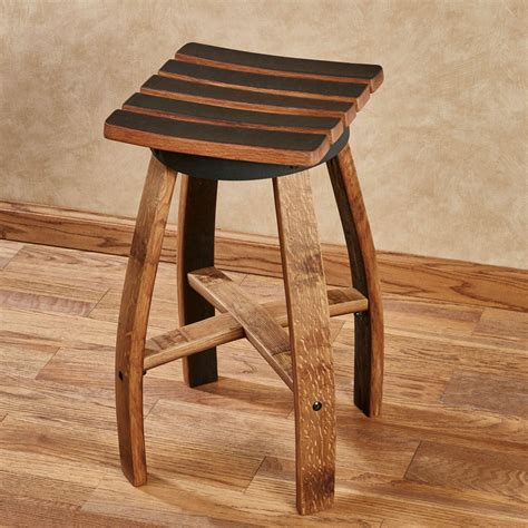 Wine Black Stool by Mendocino Recycled Wine Barrel Stave Counter Stool