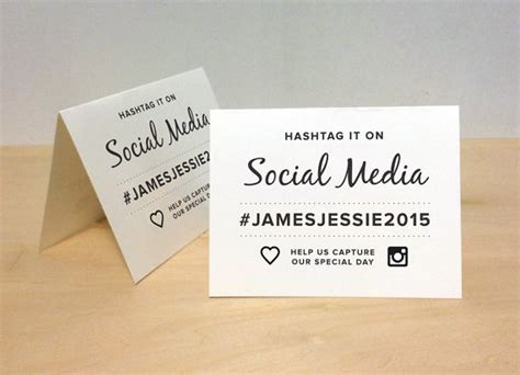 Wedding Hashtag Cards how to choose a wedding hashtag this tale