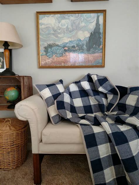 Buffalo Check Quilt by Buffalo Check Toddler Quilt Navy And By Laruedefleurs