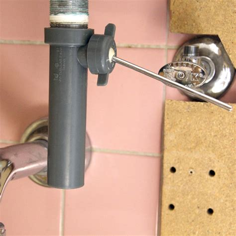 how to replace bathroom sink faucet disconnect the drain flange from the tailpiece it should