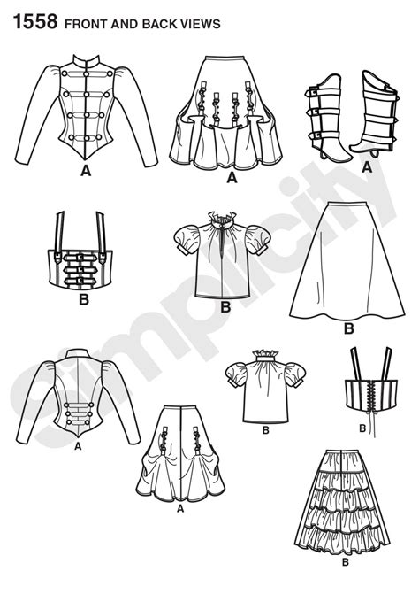 pattern of film review simplicity 1558 misses steunk costume