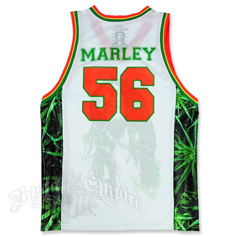 jersey design reggae bob marley leaves basketball jersey men s