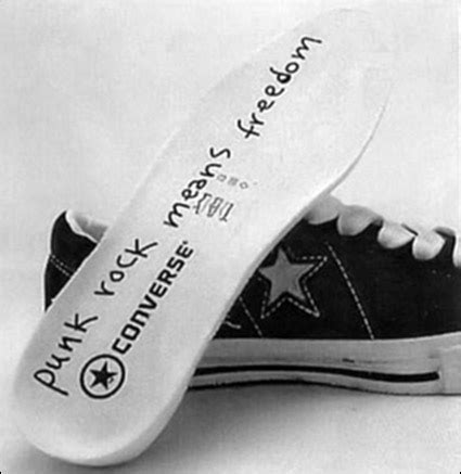 Kurt Cobains Converse Shoe Line by That Tom Tom Club Bought All The Wack Slacks Fuzz Plats