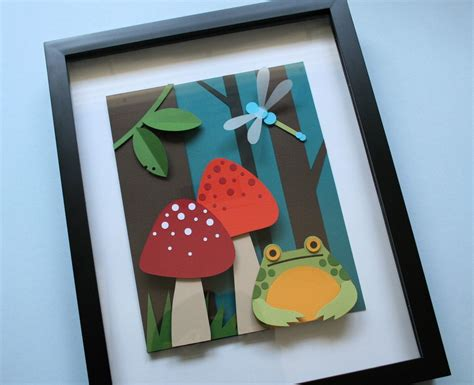 carding full tutorial pdf frog in the woods 8x10 3d paper cut tutorial pattern pdf