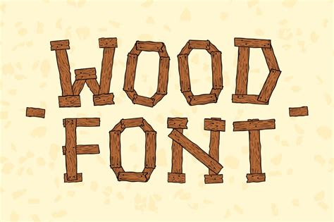 wooooood illustrations creative market