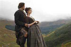 new old season one promotional shots of jamie and claire