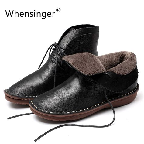 Whensinger 2017 Leather Shoes Handmade - whensinger 2017 new winter shoes genuien leather