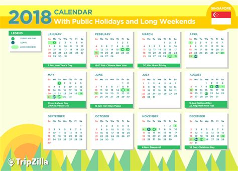 printable calendar singapore public holidays 2018 2018 calendar with holidays