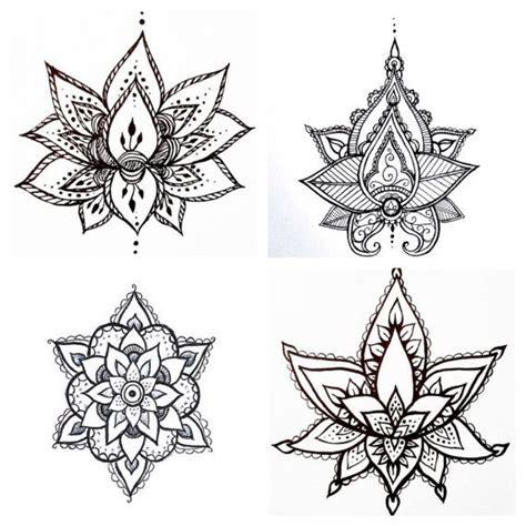 henna style lotus tattoo best 25 lotus henna ideas on henna flower