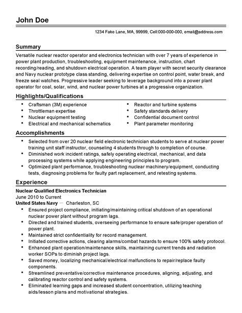 process control engineer sle resume process control