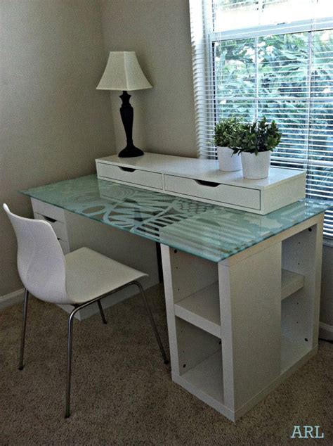 Diy Glass Top Desk 25 Best Ideas About Ikea Glass Desk On Pinterest Vanity Mirror Ikea Diy Desk To Vanity And