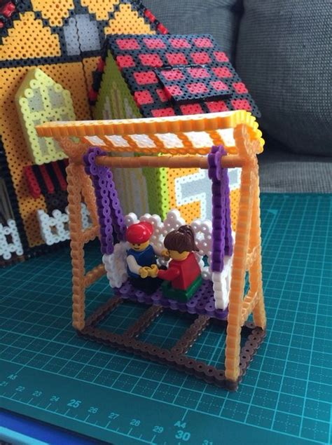 perler 3d ideas 3d house project perler by poppy yu fuse