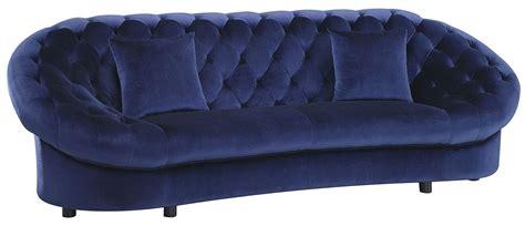 royal blue velvet sofa romanus royal blue velvet sofa from coaster coleman