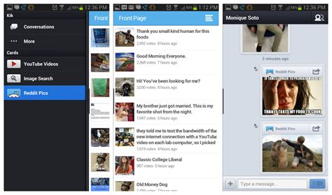 How To Search On Kik Kik Messenger Update Infuses The App With Reddit Browsing And