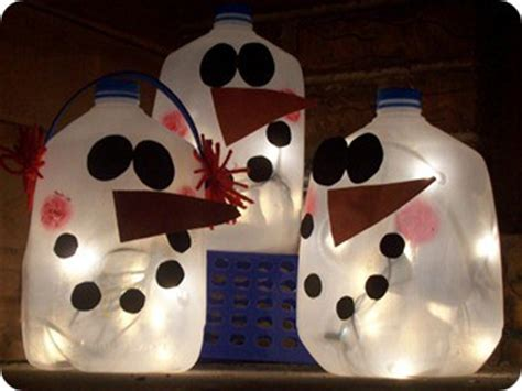 christmas milk jug snowman lantern craft preschool