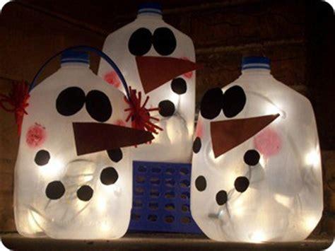 christmas milk jug snowman lantern craft preschool