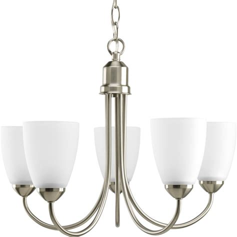 home lighting collections progress lighting gather collection brushed nickel 5 light
