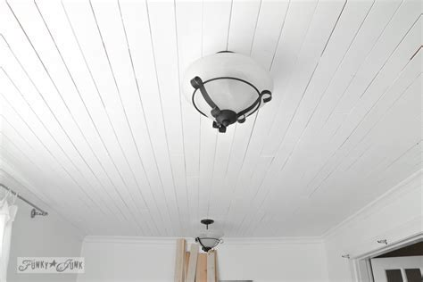 How to plank a bathroom ceilingFunky Junk Interiors