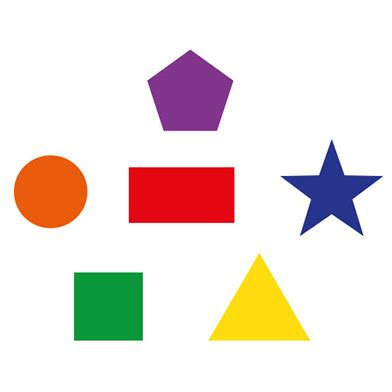 shapes playground markings: circle square rectangle star