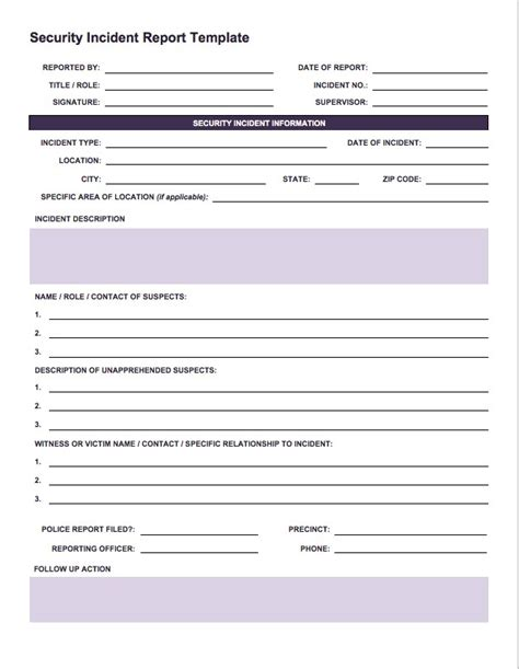 it incident report template chlain college publishing one stop shop for printables