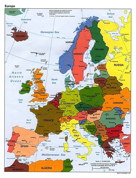 a map europe maps of europe and european countries political maps