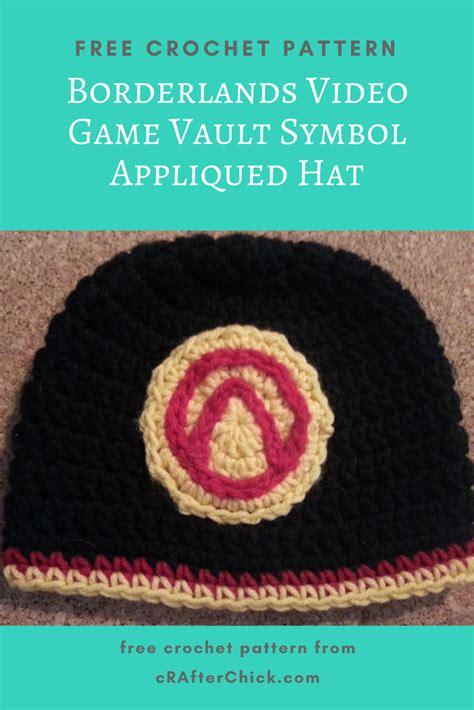 crochet pattern video game borderlands video game vault symbol appliqued hat crochet
