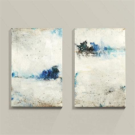 blue and white painting driven abstract art neiman marcus