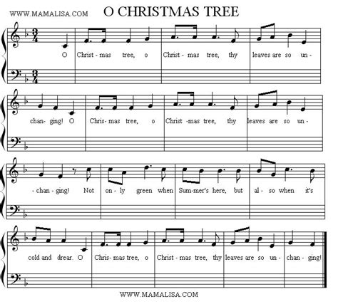 collections of oh christmas tree sheet music easy diy