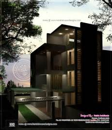 luxury 3 floor house elevation with floor plan house