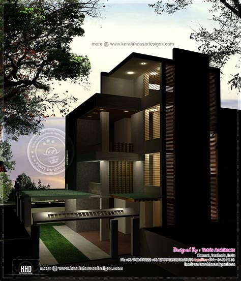 3 story house plan and elevation 2670 sq ft kerala 3 storey house designs in india 28 images elevation