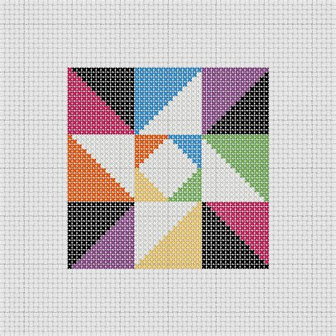 Cross Stitch Quilt Block Patterns by Pdf Pattern Cross Stitch Sler Quilt Block Easy