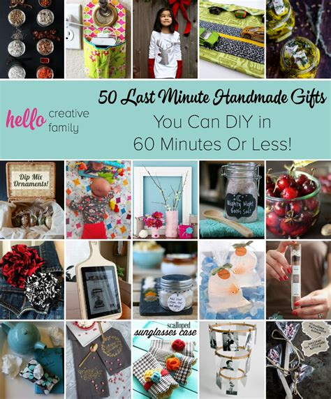 Last Minute Handmade Gifts - 50 last minute handmade gifts you can diy in 60 minutes