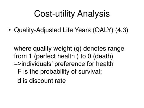 utility analysis ppt ppt chapter 4 economic efficiency and cost benefit