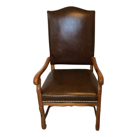 ralph lauren desk l ralph lauren leather arm desk chair chairish