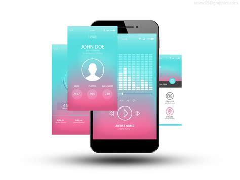 app screenshot template app screenshots icon psd psdgraphics