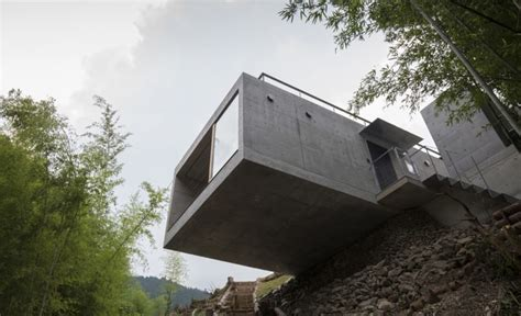 cantilever homes striking green roofed house cantilevers over a cliff in