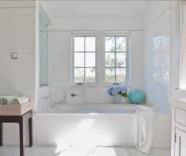 white tiled bathroom ideas classic shingle cottage with neutral interiors