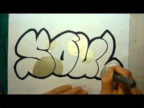 graffiti sketch soul  bubble letters  eastsider