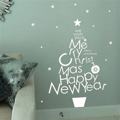 Removable Christmas Wall Stickers removable vinyl merry christmas tree christmas wall