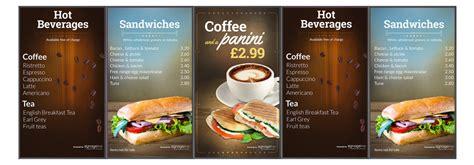 design digital menu board digital menu boards create publish display with