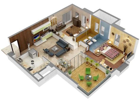 free floor plan maker with 3d home plans rectangular room 13 awesome 3d house plan ideas that give a stylish new