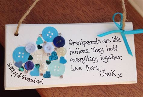 Handmade Plaques - personalised handmade plaque grandparents