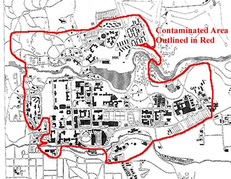 cornell cus map map of water contamination at cornell in 1997 14853 mappery