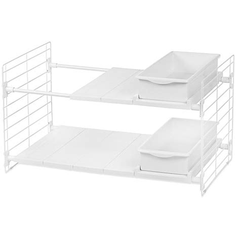 expandable sink organizer iris 174 tier expandable sink organizer bed