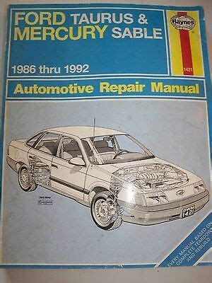 service manual manual cars for sale 1994 mercury topaz electronic throttle control service haynes auto repair manual ford taurus mercury sable 1986 1992 for sale in centuria wisconsin