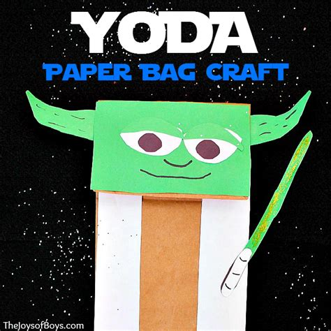 Yoda Puppet Easy Wars Craft