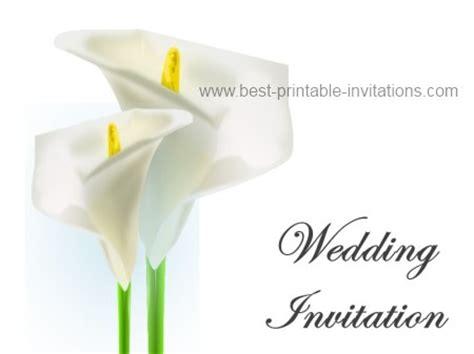 Calla Lily Wedding Invitation Calla Wedding Invitation Templates